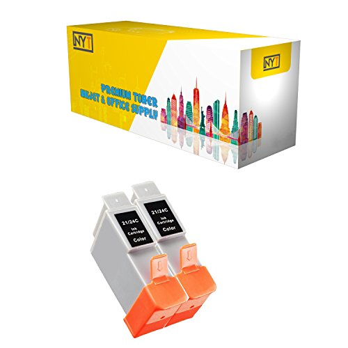 (New York Toner New Compatible 2 Pack BCI-21C BCI-24C Color High Yield Inkjet For - BJCAN-4000 . -- Color)