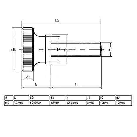eDealMax M6x40mm Planas Con estrías cabeza tornillos de apriete Manual Con rosca Hasta 4pcs pasadores de abroche: Amazon.com: Industrial & Scientific