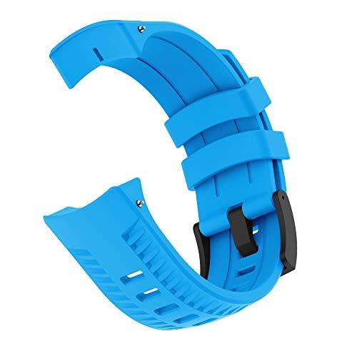 PATROHOO Bands for Suunto 9 Watch. Silicone Strap Watch Band for Suunto 9 Baro Watch,Soft Rubber for Women Man.(Blue)