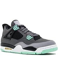 Air Jordan 4 Retro Men's Sneakers Dark Grey/Green Glow-Cement Grey-Black