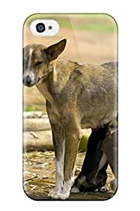 EuniceNSmith NzJuyGy2136yqhvD Case Cover Skin For Iphone 4/4s (dog Feeding The Puppies) wangjiang maoyi