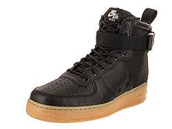 Nike Men's Sf Af1 Mid Blackblack Gum Light Brown Basketball Shoe 10 Men Us