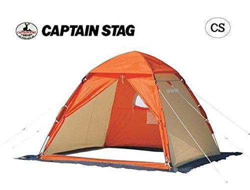 旋回願望お母さんCAPTAIN STAG ワカサギ釣り ワンタッチテント210(コンパクト) OR M-3131