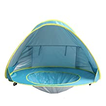 Baby Beach Shade Pool, Sunba Youth Pop Up Tent, UV Protection Sun Shelters (Blue)