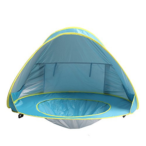 Uv Protection Babies - Sunba Youth Baby Beach Tent, Baby Pool Tent, UV protection Sun Shelters (Blue)