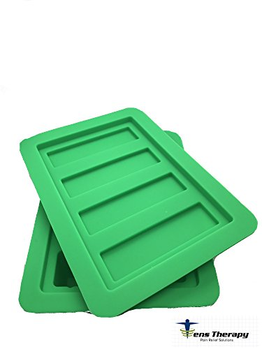 Green Butter Soap - Gourmet Silicone Butter Mold w/ Lid For Herbal Butter, Soap Bar, Muffin, Brownie, Cornbread, Cheesecake. FDA Approved (Green)