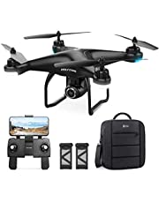 Holy Stone HS120D FPV Drone GPS with Camera 2K for Adults,RC Quadcopter with Follow Me,Selfie Function,18 Mins Long Flight Time,120°FOV HD Cam,Under 250g for Kids & Beginners,Auto Return Home,RTF