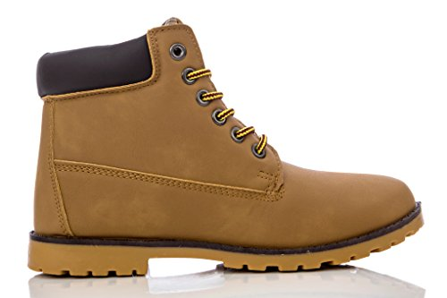 Charles Albert Women's Padded Collar Combat Work Boots