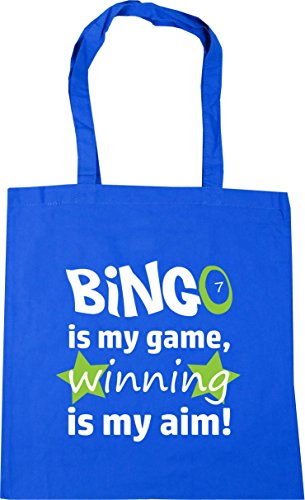 Bag is Aim Bingo litres Winning Cornflower my Blue Game 10 my Gym Tote Shopping is HippoWarehouse x38cm Beach 42cm x7q0wXX