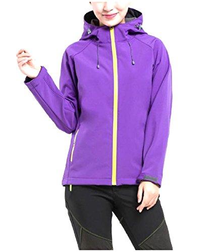 Zimaes Womens Warm Outdoor Snow Ski&Snowboard Fleece Bugaboo Jacket Purple (Bugaboo Parka)