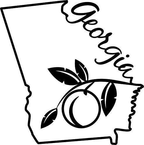 georgia peach decal - 2