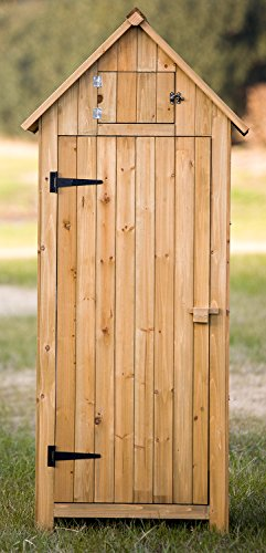merax arrow shed with single door wooden garden shed wooden lockers with fir wood natural wood color
