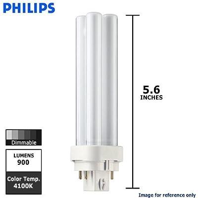 Philips Lighting 38328-1 - PL-C 13W/841/4P/ALTO - 13 Watt CFL Light Bulb - Compact Fluorescent - 4 Pin G24q-1 Base - 4100K -