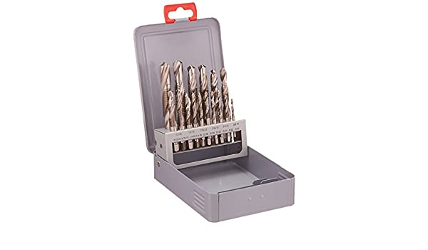 Alfa Tools DTH66120 High-Speed Steel Combination Drill and Tap Set in Deluxe Metal Index 16 Piece