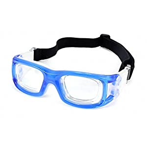 Ray Ron Eyewear for Basketball Glasses Sport Goggles Safety Glasses Adult Hard Frame Protective Transparent & Blue