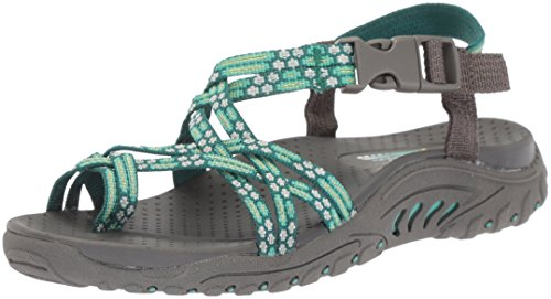 Skechers Cali Women's Reggae Loopy Toe Ring Sandal, Mint, 8 M US