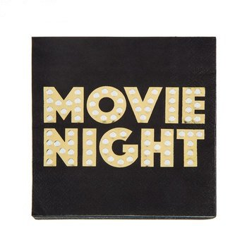 Movie Night Napkins Table Party Supplies Special Events 25 Count
