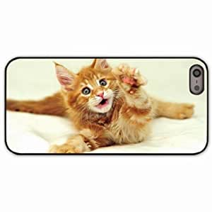 iPhone 5 5S Black Hardshell Case furry paw Desin Images Protector Back Cover