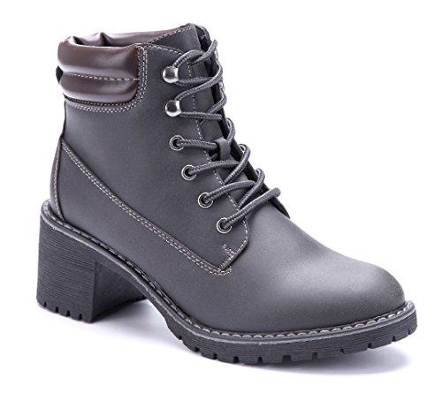 Schuhtempel24 Damen Schuhe Boots Stiefel Stiefeletten Blockabsatz 6 cm  Schwarz 64c73e2da9