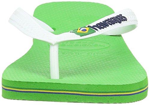Havaianas Brasil Logo Chanclas, Unisex-Adultos Neon Green 5211