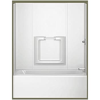 Asb Temp203a Tempo Tub Wall White 5 Piece Bathtub