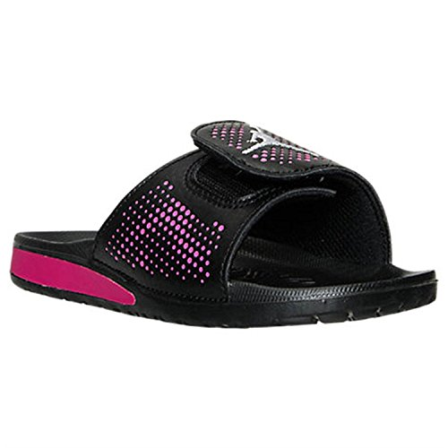 pink and black slides jordan - 1