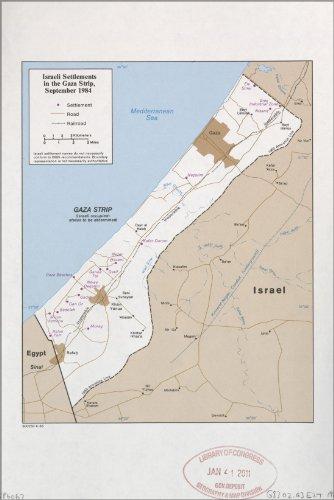42x63 Poster; Cia Map Israel Settlements Gaza Strip Sept 1984 (Gaza Map Israel Strip)