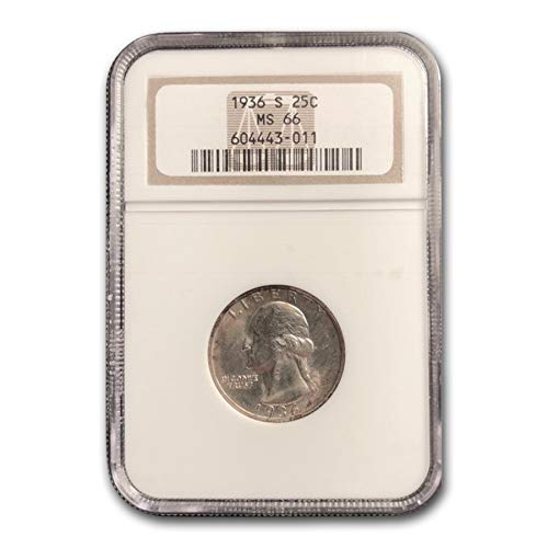 1936 S Washington Quarter MS-66 NGC Quarter MS-66 NGC