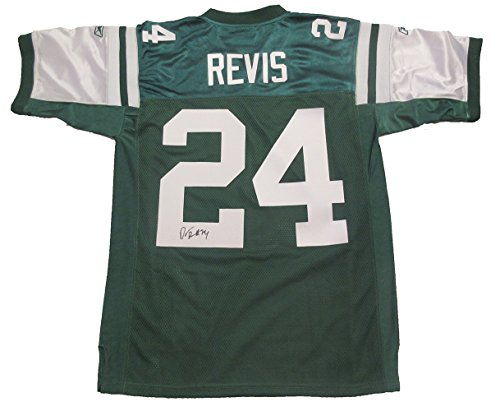 Island Bowl (Darrelle Revis Autographed New York Jets Jersey W/PROOF Picture of Darrelle Signing For Us, New York Jets, New England Patriots, Tampa Bay Buccaneers, Pittsburgh Panthers, Super Bowl Champion, Revis Island)