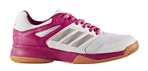 adidas Damen Handballschuhe Speedcourt Mehrfarbig (Weiß/Silber/Pink 000)