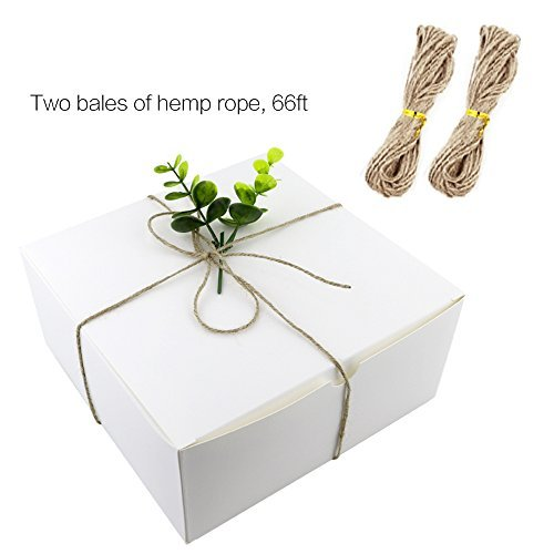 Moretoes White Boxes Gift Boxes 12pcs 8x8x4 Inches Paper Gift Boxes with Lids for Gifts Bridesmaid Proposal Box Cupcake Boxes Crafting