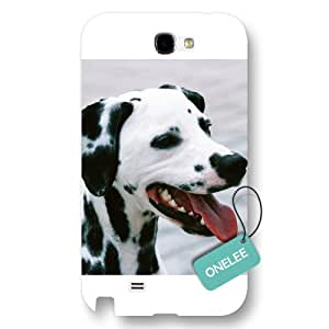 Onelee(TM) - Design of Dalmatian Samsung Galaxy Note 2 Hard Plastic Case & Cover - White 10