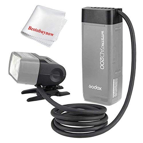 Godox EC200 200W Extender Flash Head with 2M Cable Portable Off-Camera Light Lamp for Godox AD200 PRO AD200 Speedlite Flash