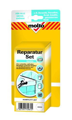 Molto Reparatur Set, Reparatur-Lackstift 12 ml, Spachtelmasse 75 g, Härter 10...