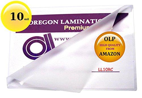 10 Mil Legal Laminating Pouches 9 x 14-1/2 Laminator Sleeves Qty 50 ()