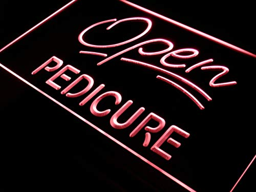 ADVPRO Open Pedicure Services Shop Bar LED Neon Sign Red 12'' x 8.5'' st4s32-j396-r by ADVPRO