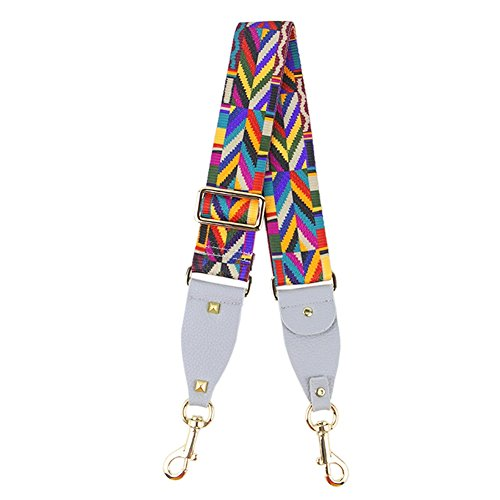 Belt 125 5CM Adjustable Strap Crossbody W Shoulder Handle Grey Woven Strap Width Bag Replacement Canvas GZHOUSE 5cm L Bag q71aaT