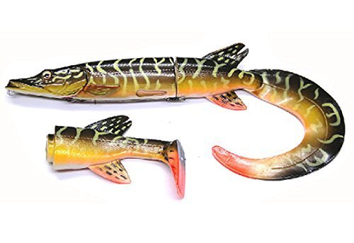 Savage Gear Hybrid Hard Pike Soft Tails, Pike