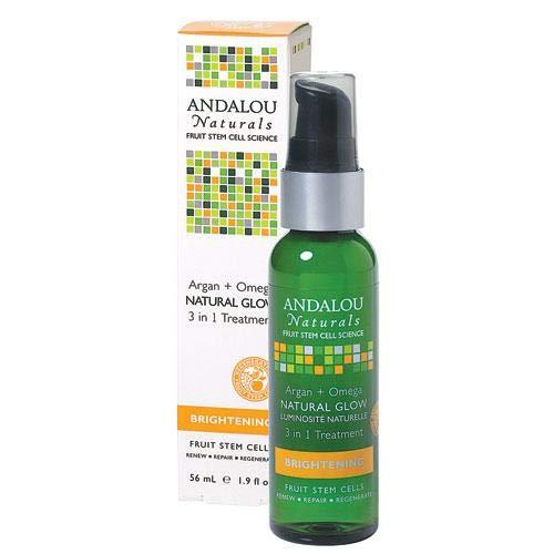 New - Andalou Naturals Argan And Omega Natural Glow 3 In 1 Treatment - 1.9 Fl Oz