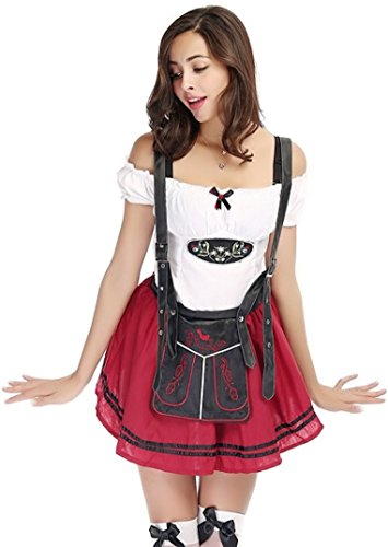 Sexy German Girl Costumes (3 Piece Sexy German Beer Girl Costume Fancy Dress Outfit)