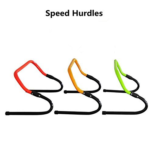 DDMARK Speed Training Hurdles Quick Adjustment Sport Soccer Foodball Speed Hurdles - Set of 6 by DDMARK