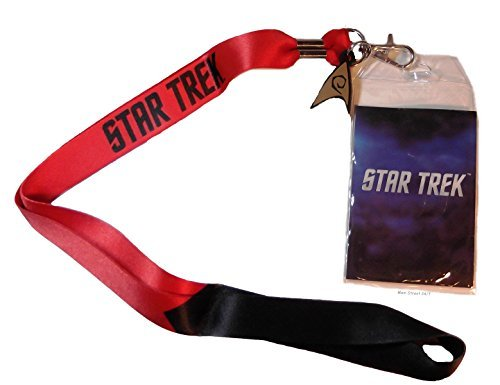 Star Trek ENGINEERING RED ID Holder LANYARD Keychain with Logo Charm
