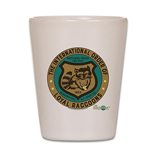 CafePress - The Honeymooners: Loyal Raccoons - Shot Glass, Unique and Funny Shot Glass