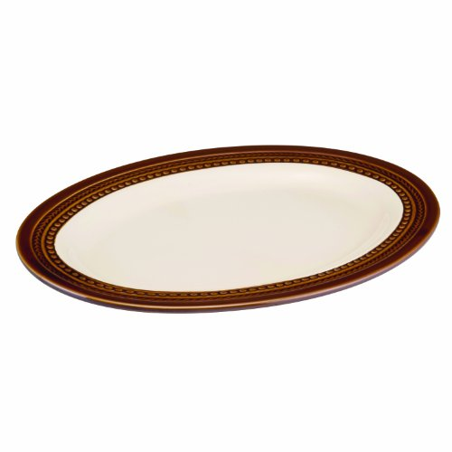 Paula Deen Dinnerware Southern Gathering 14-Inch Stoneware Oval Platter, Chestnut ()