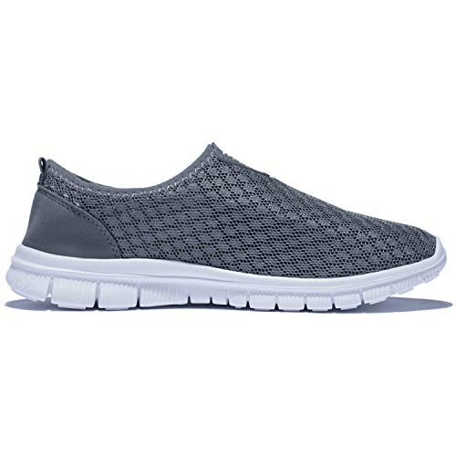 KENSBUY Mens Breathable and Durable Sports Running Shoes Lightweight Mesh Walking Sneakers EU41 Grey by KENSBUY (Image #4)