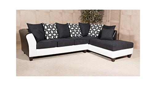 Chelsea Home Furniture Monterey Sectional, San Marino Black