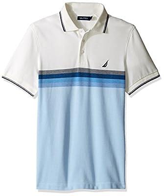 Nautica Men's Short Sleeve Gradient Stripe Polo Shirt
