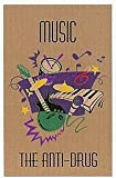 Guardian MLL-00003797 ''Music The Anti-Drug'' Printed Message Indoor Floor Mat, 4' x 6', Brown
