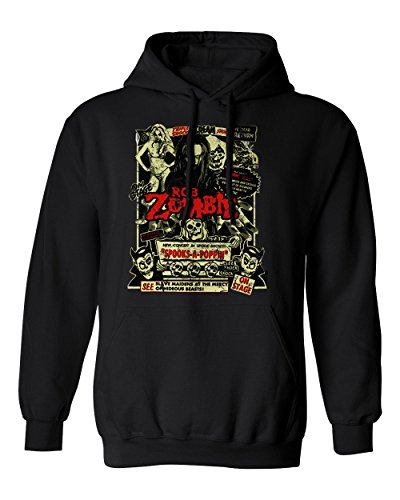 RIVEBELLA New Graphic Horror Movie Novelty Tee Zombie Dead Return Men's Hoodie Hooded Sweatshirt (Black, XL) -