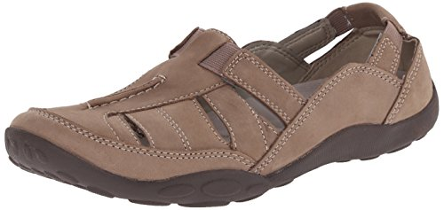 Clarks Women's Haley Moon Flat, Taupe Nubuck, 9 M US